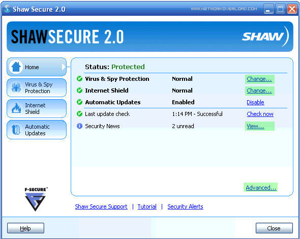 How to download Shaw secure antivirus
